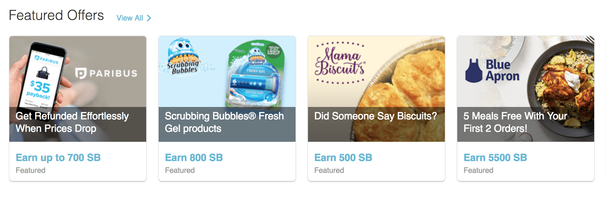 swagbucks featured offers