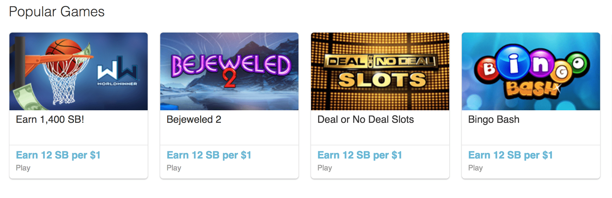 swagbucks play games