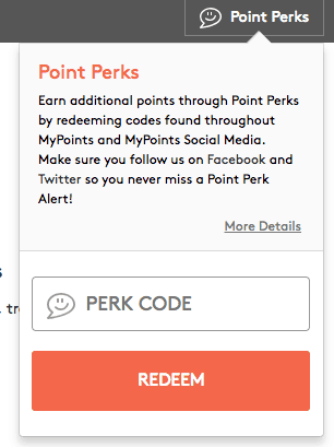 point perks mypoints