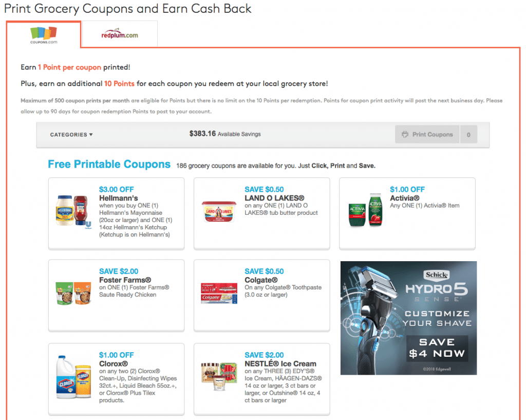 print coupons mypoints