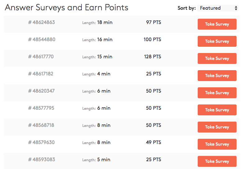 survey dashboard mypoints