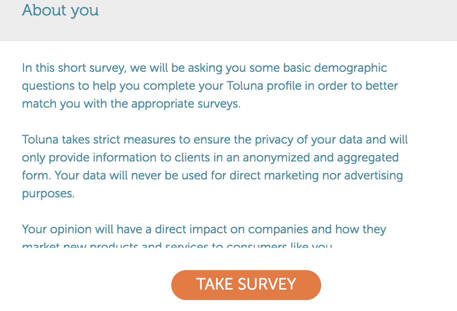 toluna about you survey