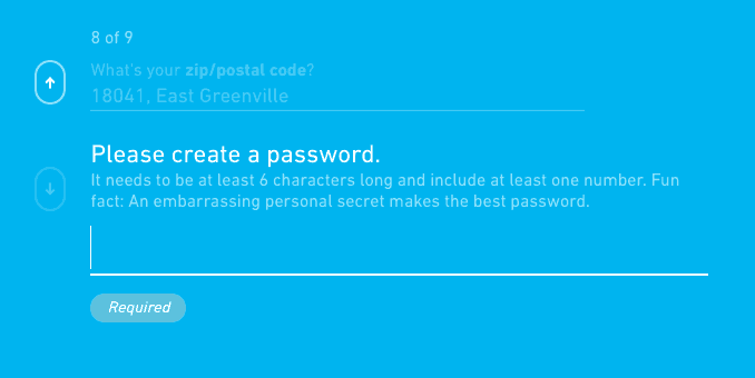 toluna create a password