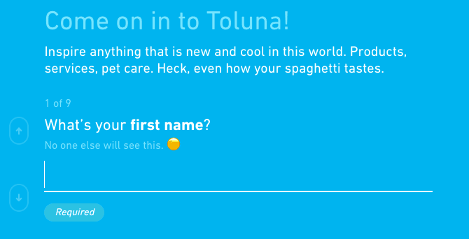toluna member first name