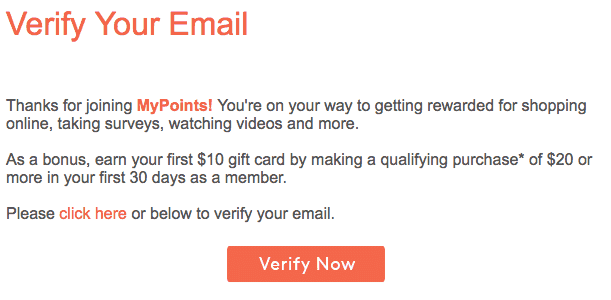 verify email mypoints